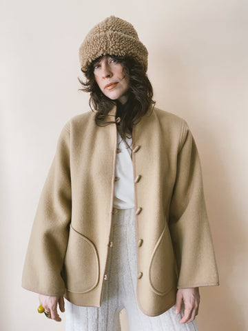 The Honey Wool Liner Coat