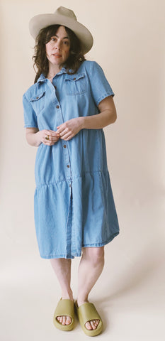 The Tiered Denim Dress