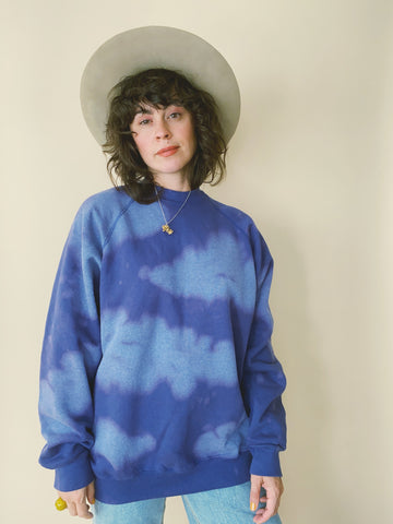 Batch NO. 19 - Cobalt Clouds Crewneck Sweatshirt