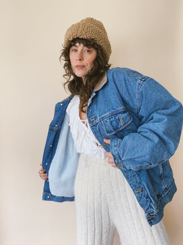 The Sherpa Lined Denim Jacket