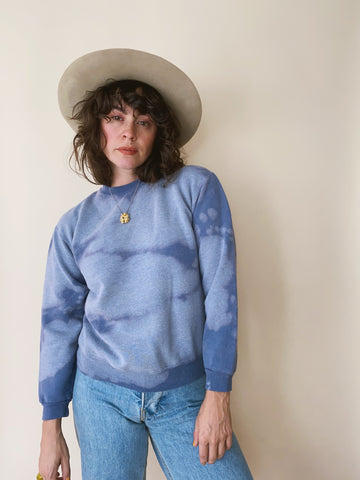 Batch NO. 19 - Dusty Blue Clouds Crewneck Sweatshirt