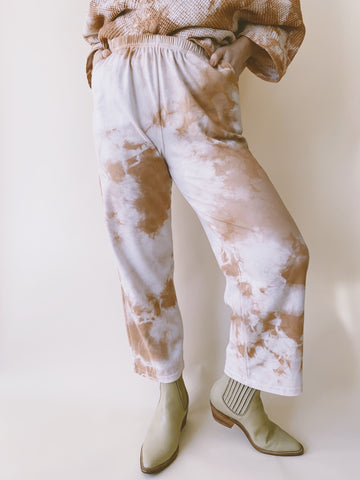 Batch NO. 25 - Hand Dyed Clay Dapple Easy Pants