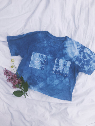 Annie Sun Collaboration - Flower Babe Cropped T