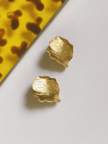 The Gold Bark Earrings