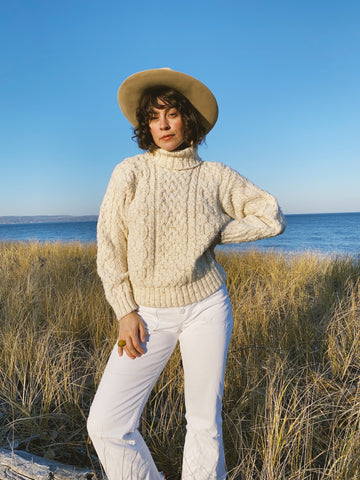 The Butterscotch Speckled Knit