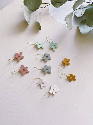 La Fleur Hoop Earrings