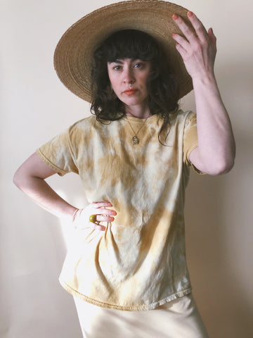 Batch No. 8 - Hand Dyed Ochre Wash T