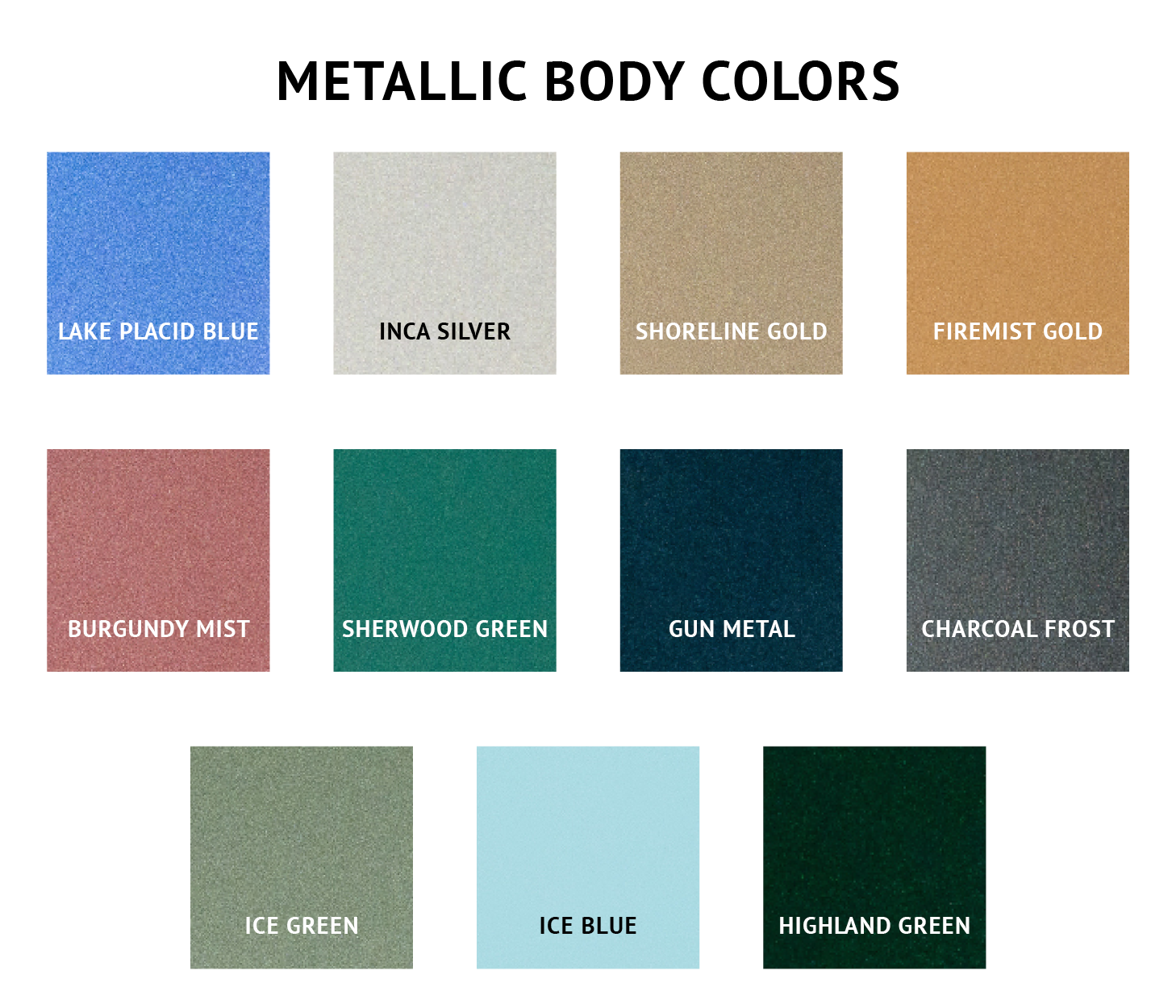 Metallic Body Colors