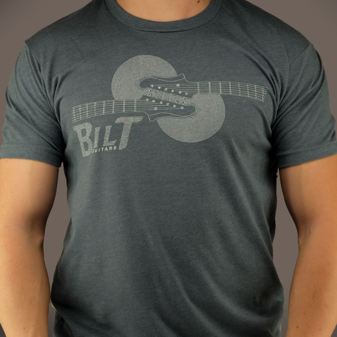 Horizontal Headstock T-Shirt, Indigo
