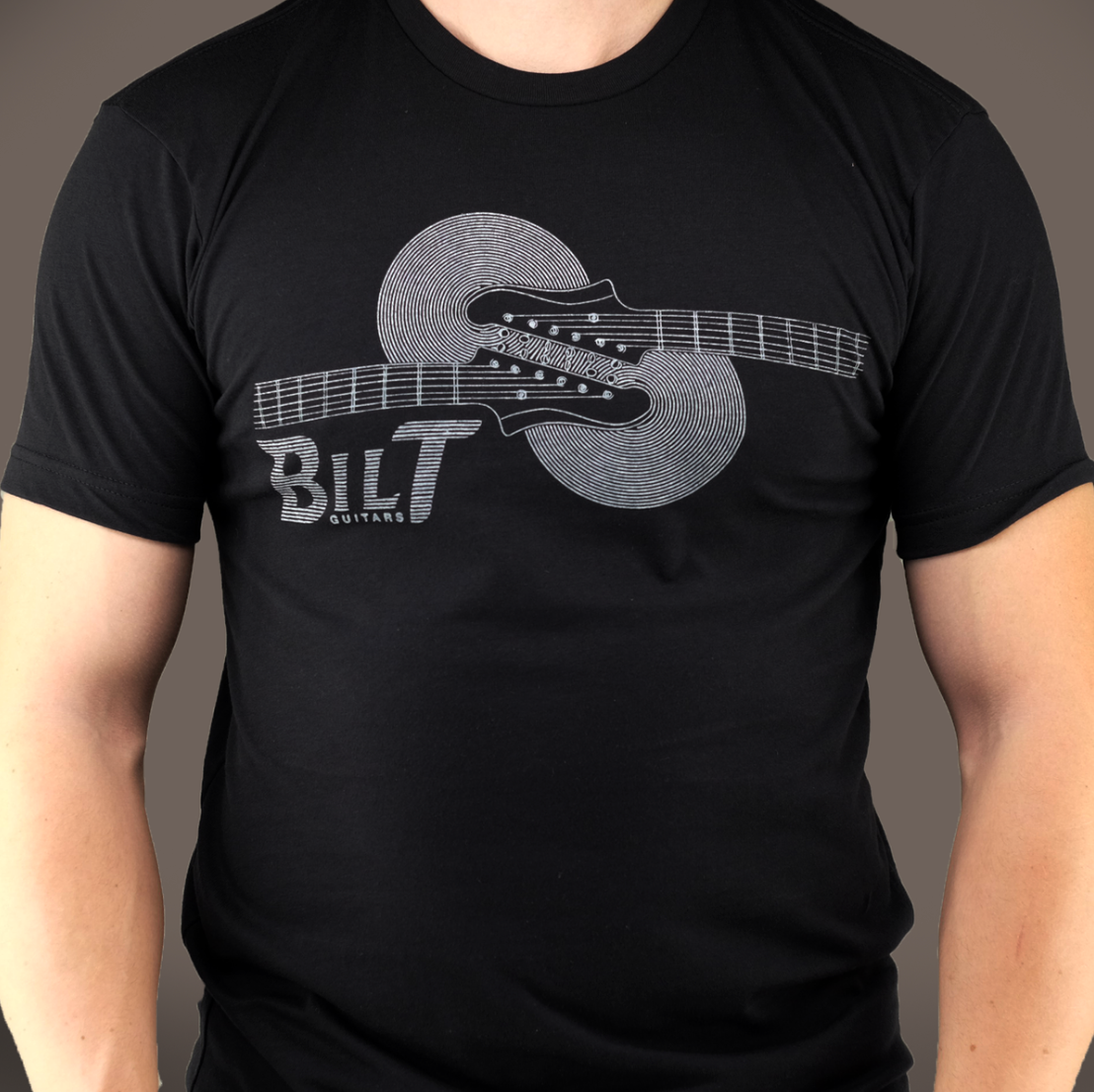 Horizontal Headstock T-Shirt, Black