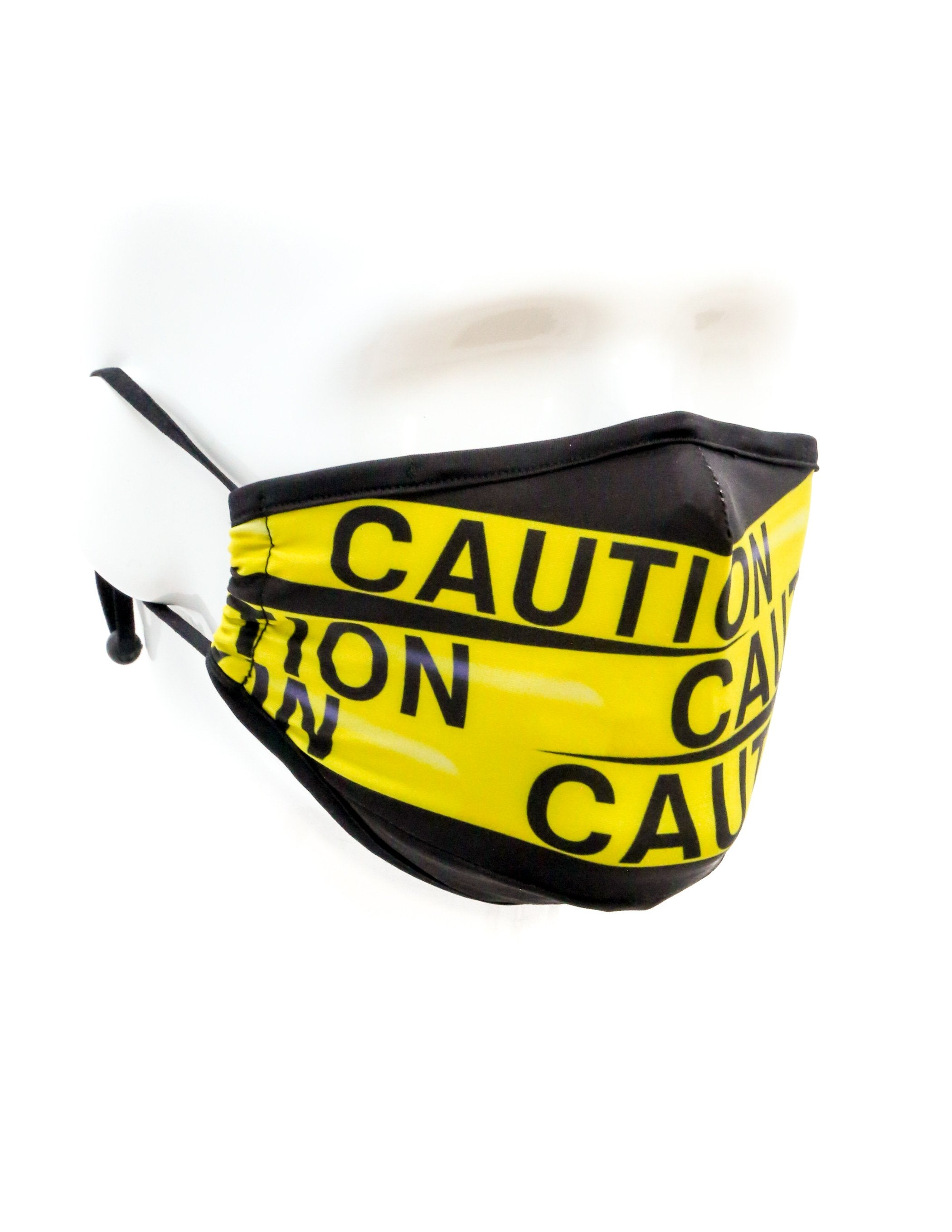 18043: FYDELITY- Premium Protective Fabric Face Covering Mask: Caution