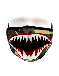 18082: FYDELITY- Premium Protective Fabric Face Covering Mask: Flying Tiger Camo