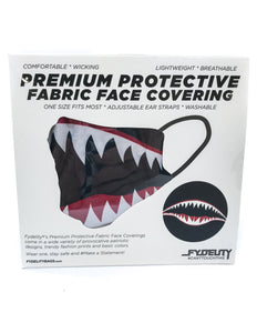 18083: FYDELITY- Premium Protective Fabric Face Covering Mask: Flying Tiger Black