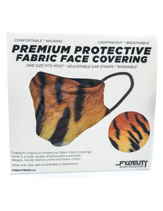 18085: FYDELITY- Premium Protective Fabric Face Covering Mask: Tiger