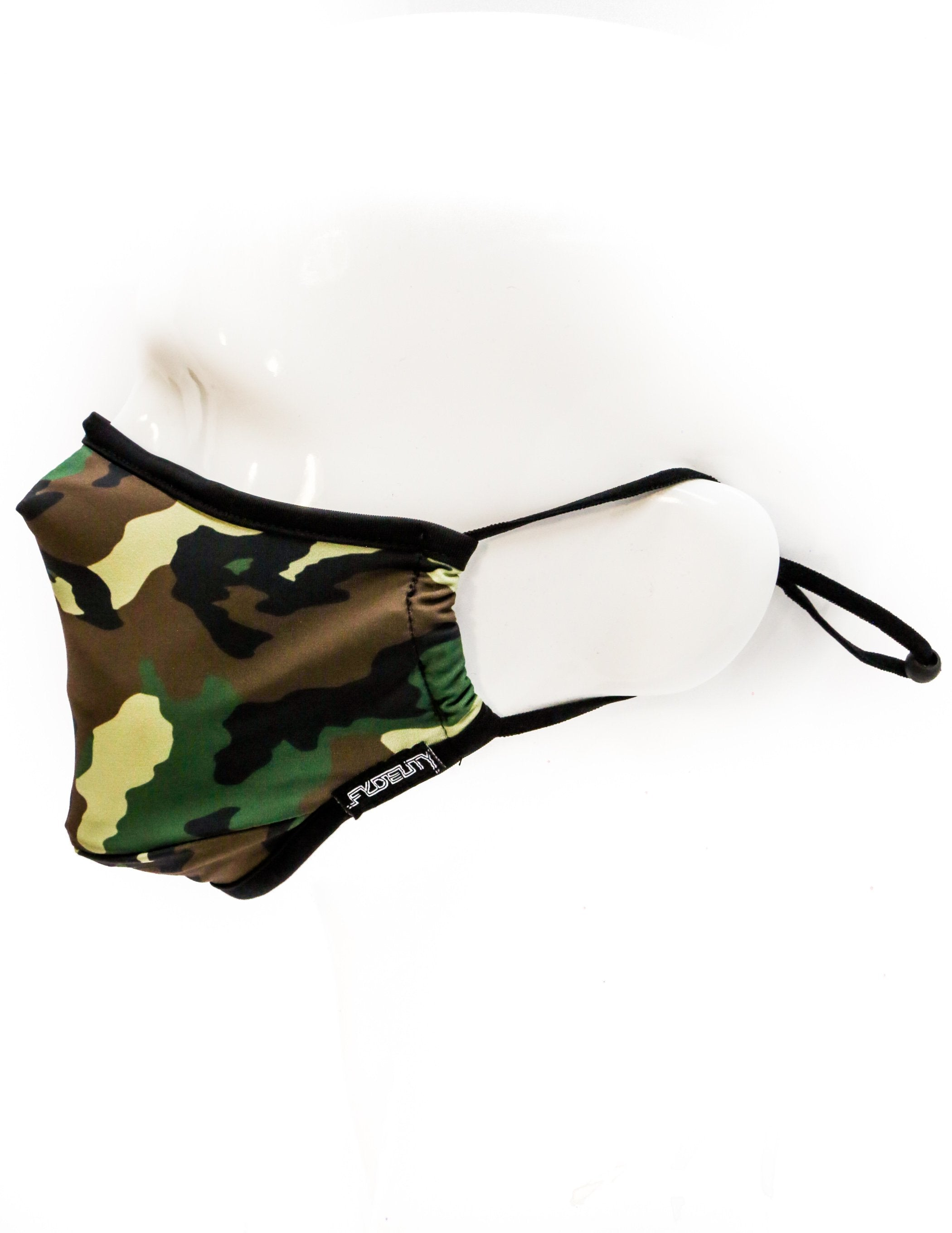 18087: FYDELITY- Premium Protective Fabric Face Covering Mask: Camo
