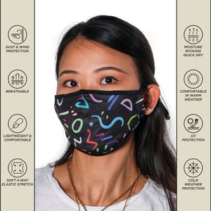 18096: FYDELITY- Premium Protective Fabric Face Covering Mask: Memphis Black