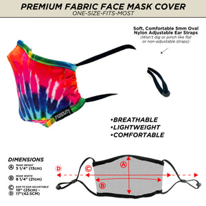 18099: FYDELITY- Premium Protective Fabric Face Covering Mask: Tie Dye