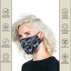 18102: FYDELITY- Premium Protective Fabric Face Cover: Tie Dye Black