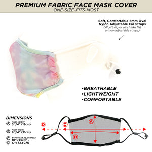 18104: FYDELITY- Premium Protective Fabric Face Cover: Tie Dye Pastel