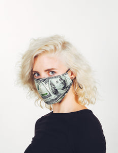 18206: FYDELITY- Premium Fabric Face Covering Mask | MONEY WHERE YOUR MOUTH IS.
