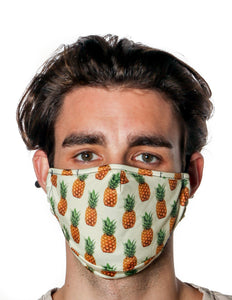 18210: FYDELITY- Premium Fabric Face Covering Mask | PINEAPPLES