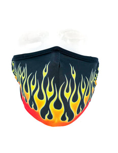 18213: FYDELITY- Premium Fabric Face Covering Mask | HOT ROD