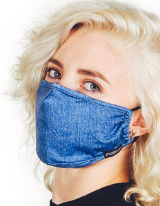 18223: FYDELITY- Premium Fabric Face Covering Mask | BLUE JEAN