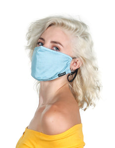 18224: FYDELITY- Premium Fabric Face Covering Mask | FADED DENIM