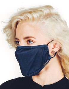 18228: FYDELITY- Premium Fabric Face Covering Mask | BLUE ACID