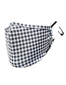 18629: FYDELITY- KIDS Premium Fabric Face Covering Mask | GINGHAM