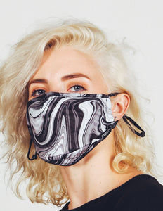 18237: FYDELITY- Premium Fabric Face Covering Mask | BLACK SWIRL