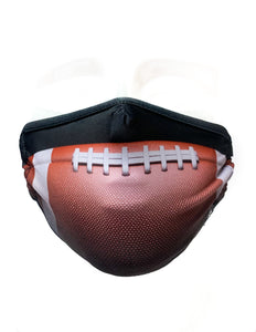 18242: FYDELITY- Premium Fabric Face Covering Mask | Football