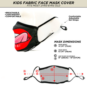 18578: FYDELITY- >KIDS< Premium Fabric Face Covering Mask: Tasty
