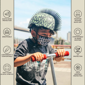 18591: FYDELITY- >KIDS< Premium Fabric Face Covering Mask: Indy