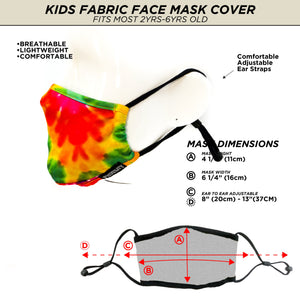 18599: FYDELITY- >KIDS< Premium Fabric Face Covering Mask: Tie Dye
