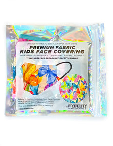 18645: FYDELITY- KIDS Premium Fabric Face Covering Mask | Butterfly