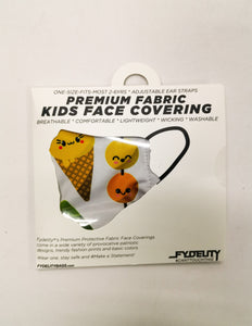18674: FYDELITY- >KIDS< Premium Fabric Face Covering Mask: Cute Sushi