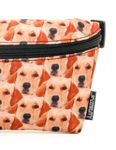 33400: FYDELITY- Ultra-Slim Fanny Pack: POOCHIFER Yellow Labrador