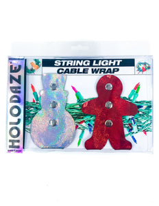 43002: HOLO.DAZE Holiday Cable Wraps Snow Ginger: Laser Silver Red