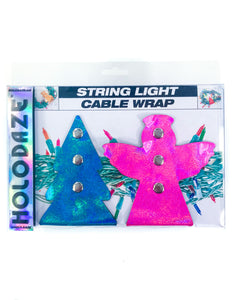 43005: HOLO.DAZE Holiday Cable Wraps Tree Angle: Laser Blue Pink