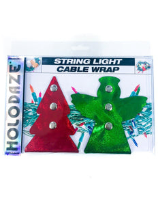 43011: HOLO.DAZE Holiday Cable Wraps Tree Angle: LASER Red Green
