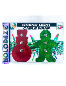 43012: HOLO.DAZE Holiday Cable Wraps Snow Ginger: LASER Red Green