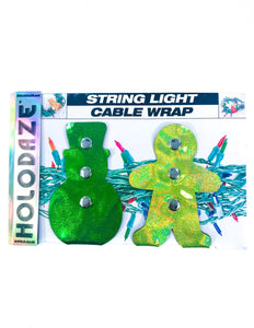 43014: HOLO.DAZE Holiday Cable Wraps Snow Ginger: LASER Green Gold