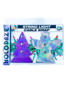 43021: HOLO.DAZE Holiday Cable Wraps Tree Angle: LASER Purple Silver