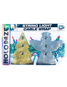 43031: HOLO.DAZE Holiday Cable Wraps Tree Angle: KRINGLE Gold Silver