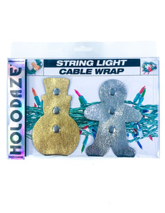 43032: HOLO.DAZE Holiday Cable Wraps Snow Ginger: KRINGLE Gold Silver