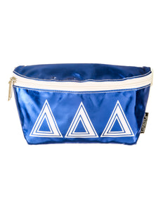 50003: Fydelity- Ultra-Slim Fanny Pack: GREEK ∆∆∆ Metallic Royal Blue