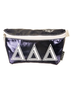 50004: Fydelity- Ultra-Slim Fanny Pack: GREEK ∆∆∆ Navy Blue