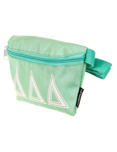 50008: Fydelity- Ultra-Slim Fanny Pack: GREEK ∆∆∆ Seafoam