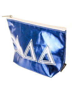 51001: Fydelity- Zip Pouch: GREEK ∆∆∆ Metallic Royal Blue